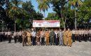 Polres Lampung Selatan Laksanakan Apel Gelar Pasukan Kesiapan Pengamanan Pilkades Serentak, Kapolres : Jangan Tinggalkan Lokasi Sebelum Kondusif