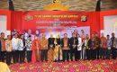 Danrem 043/Gatam Kolonel Inf Taufiq Hanafi Hadiri Pisah Sambut Wakapolda Lampung