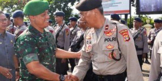 Danrem 043/Gatam Hadiri Apel Konsolidasi Oprasi Mantab Brata Krakatau
