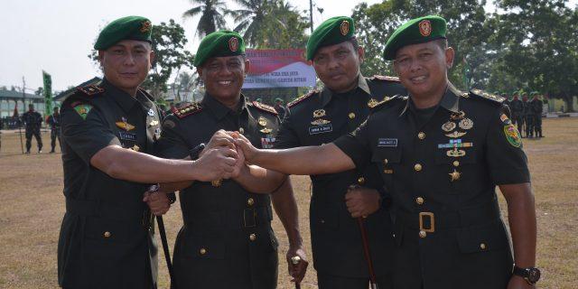 Danrem 043/Garuda Hitam Kolonel Inf Taufiq Hanapi Pimpin Langsung Serah Terima Jabatan Dandim 0424/Tanggamus Dan Danyon 143/TWEJ