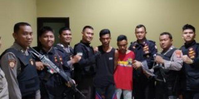 Patroli Hunting, Unit Tangkal Sat Sabhara Polresta Bandar Lampung Amankan Dua Pemuda Bawa Sabu