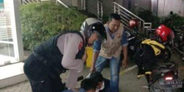 Dibantu Unit Tangkal Sat Sabhara Polresta Bandar Lampung, Bhabinkamtibmas Kelurahan Pinang Jaya Gagalkan Aksi Pencurian ATM