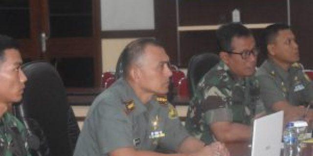 Kolonel Inf Taufiq Hanafi Pantau Kesiapan Pengamanan  Kodim Jajaran Korem 043/Gatam Jelang Tahun Baru 2020
