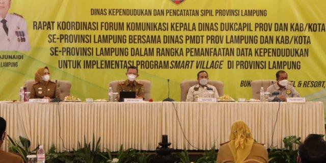 Pemerintah Provinsi Lampung Gelar Rakor, Bahas Pemanfaatan Data Kependudukan Untuk Implementasi Program Smart Village