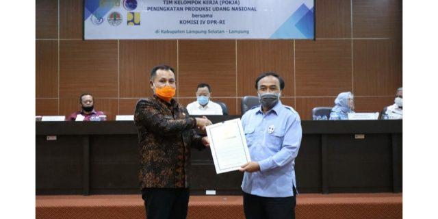 Bupati Lampung Selatan & Dirjen KKP Jalin Kerjasama Kembangkan Kawasan Budidaya Udang
