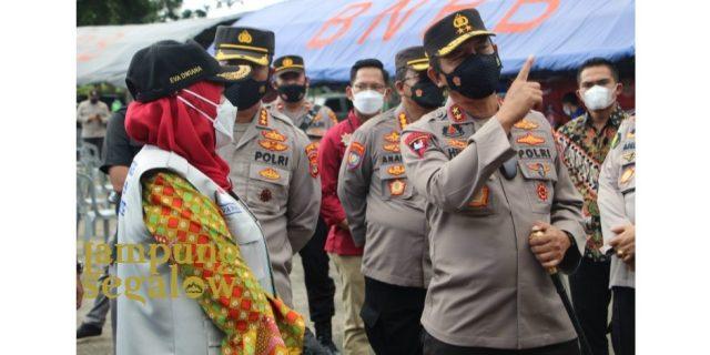 Kapolda Lampung Tinjau Gebyar Vaksinasi