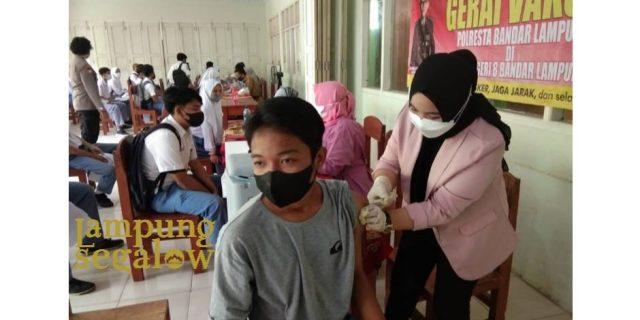 Vaksinasi di Lingkungan SMKN8