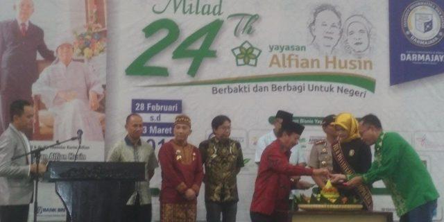 Herman HN hadiri Syukuran Milad Yayasan Alfian Husin ke 24