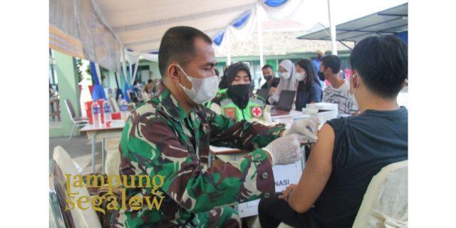 Denpom Lampung Vaksinasi Kedua