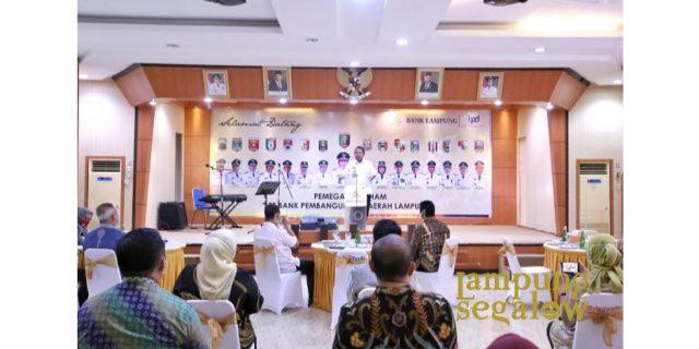 Gubernur Arinal Minta Jajaran Direksi PT. Bank Lampung Profesional dan Bersinergi dengan Kabupaten/Kota.