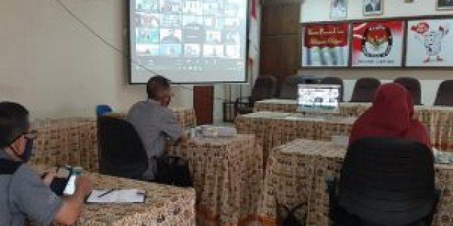 KPU Lampung Ikuti kegiatan Rakor Persiapan pengadaan Protokol Kesehatan Covid-19 dalam Pemilihan 2020