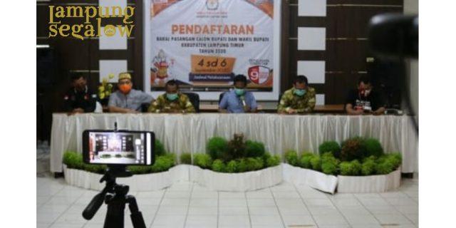 KPU Lamtim Tutup Pendaftaran Bupati dan Wakil Bupati