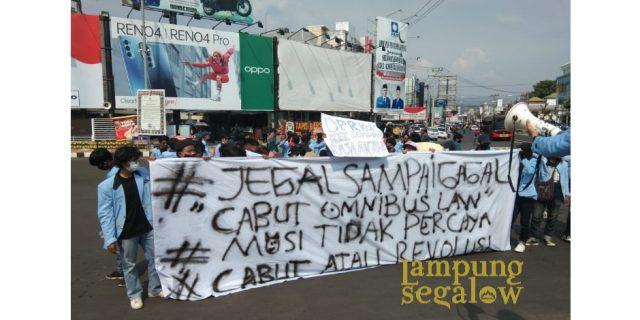 Aliansi Mahasiswa Lampung Bergerak Kembali Lakukan Aksi Damai Tolak Omnibus Law
