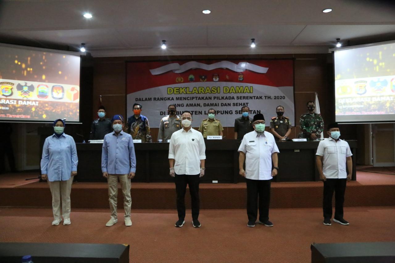 Ciptakan Pilkada Damai, Polres Lampung Selatan Gelar Deklarasi dan Penandatanganan Pakta Integritas
