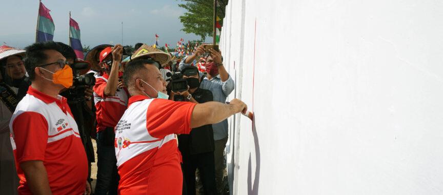 Nanang Ermanto Buka Lomba Mural HUT ke-75 Kemerdekaan RI