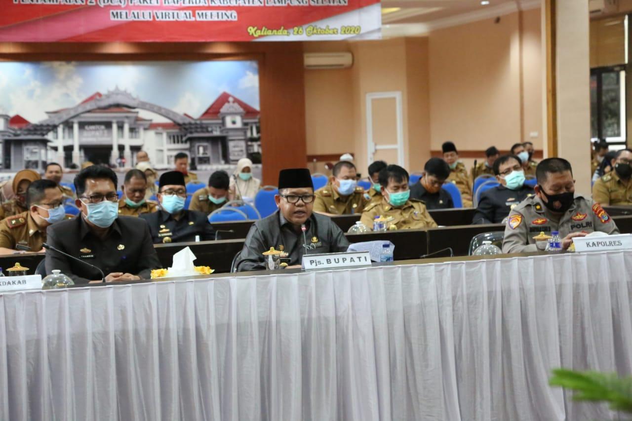 Pjs Bupati Lampung Selatan Sampaikan Dua Raperda Secara Virtual