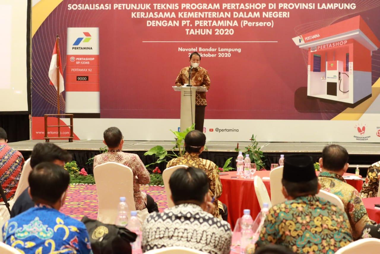 Gubernur Lampung Siapkan 300 Outlet Pertashop Demi Tingkatkan Produktifitas Pertanian