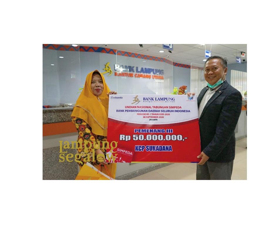 Nasabah Bank Lampung KCP Sukadana Menangkan Undian Nasional Tabungan Simpeda