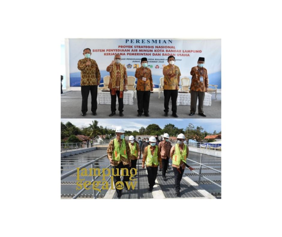 Herman HN Resmikan Proyek KPBU SPAM Kota Bandarlampung