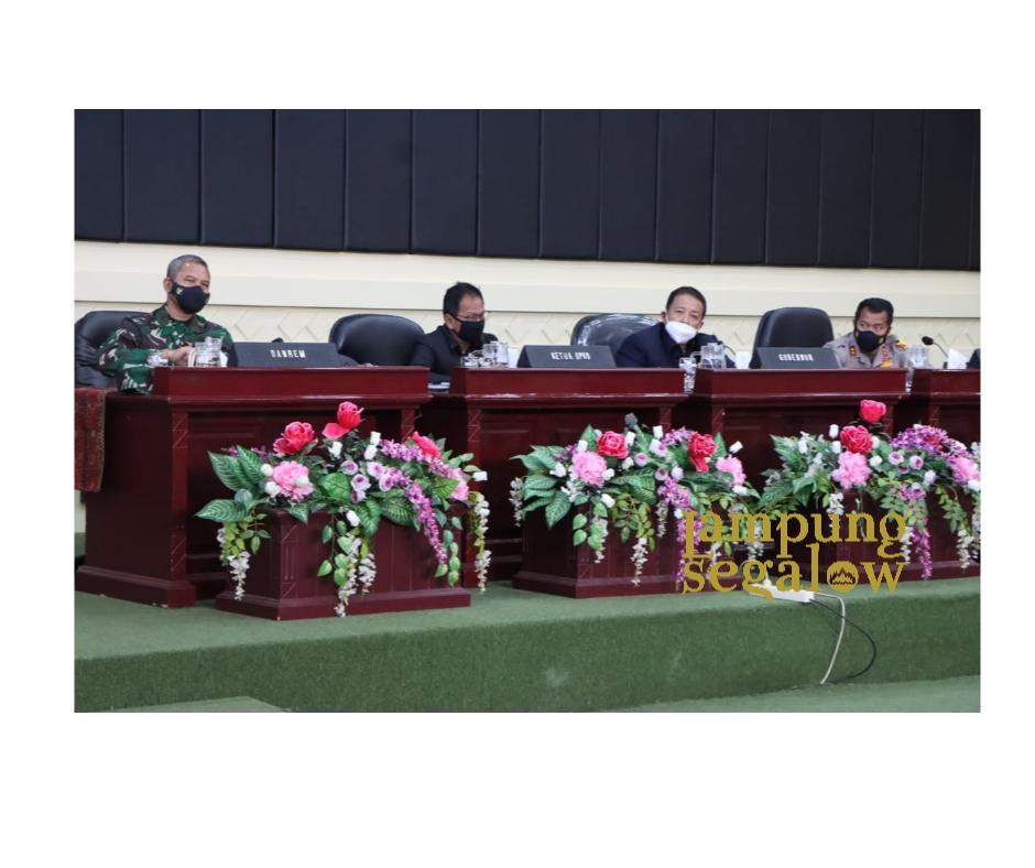 Gubernur Lampung Pimpin Rapat Koordinasi Pelaksanaan Kesiapan Pilkada Serentak Tahun 2020
