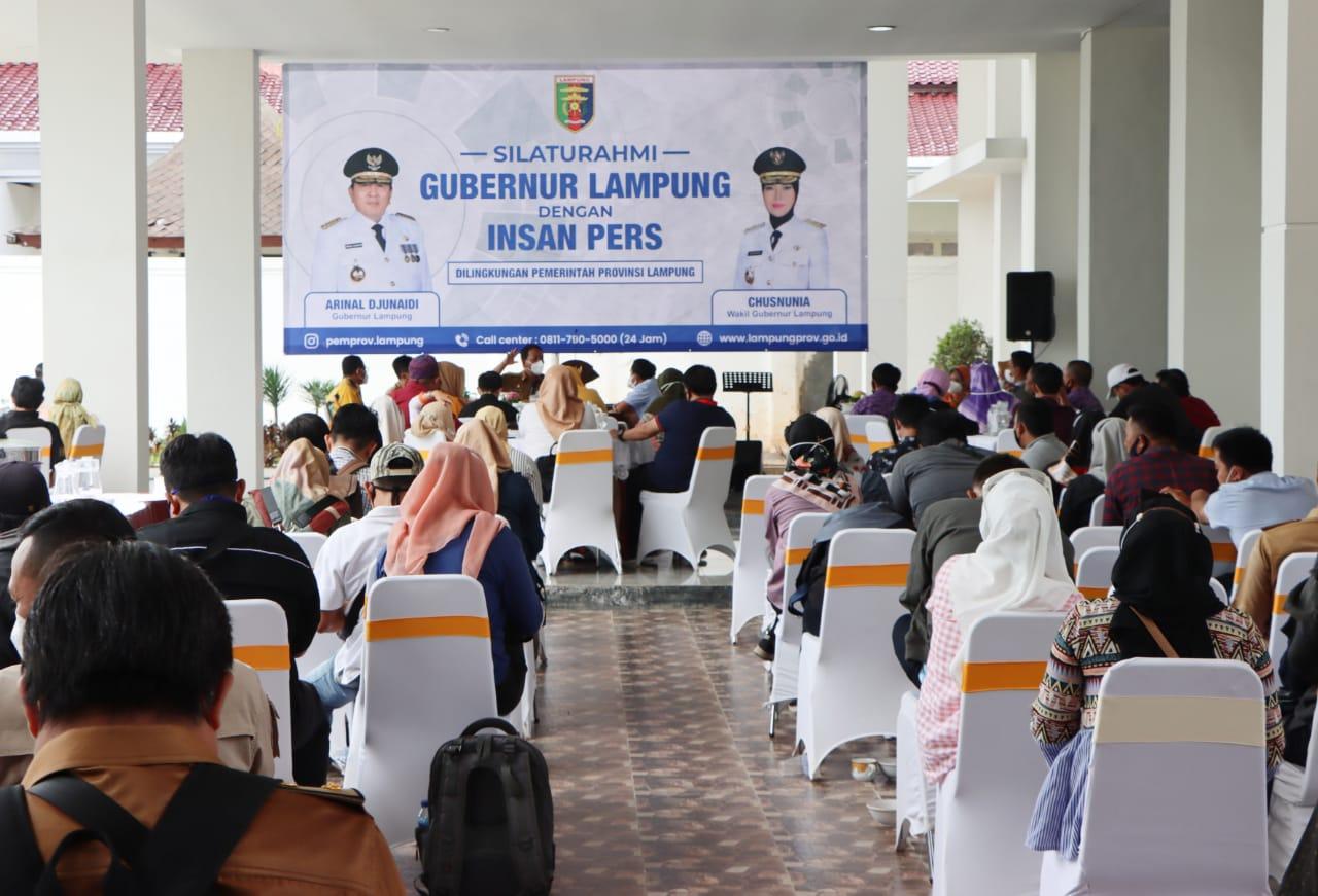 Gubernur Arinal Silaturahmi Dengan Insan Pers Jalin Hubungan Melalui Keterbukaan Informasi