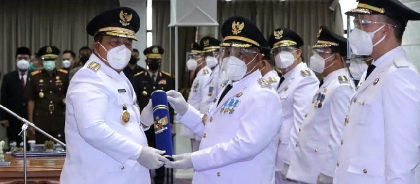 Gubernur Lampung Lantik Nanang-Pandu Sebagai Bupati dan Wakil Bupati Lampung Selatan Periode 2021-2026