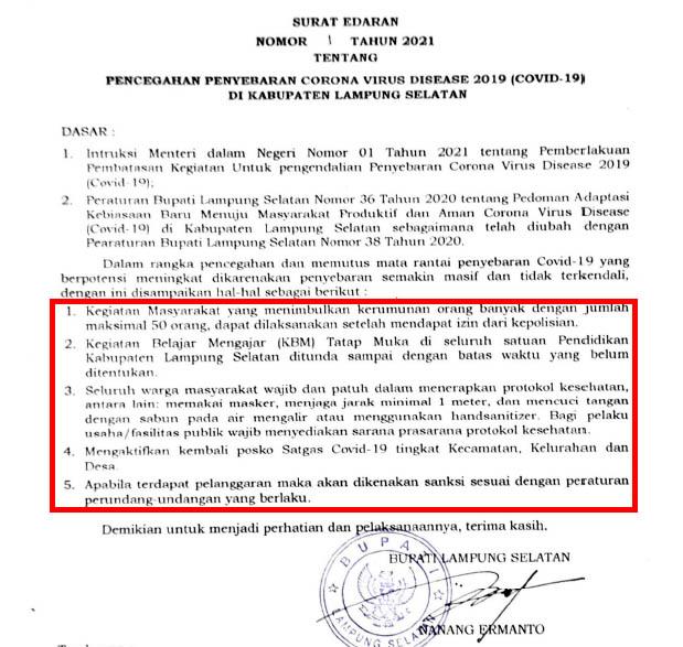 Cegah Covid-19, Nanang Tunda Sekolah Tatap Muka Hingga Berikan Sanksi Bagi Pelanggar Prokes