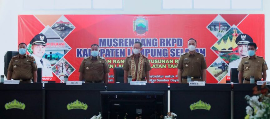 Pemkab Lampung Selatan Gelar Musrenbang RKPD 2022, Sekdaprov : Jangan Sekedar Rutinitas