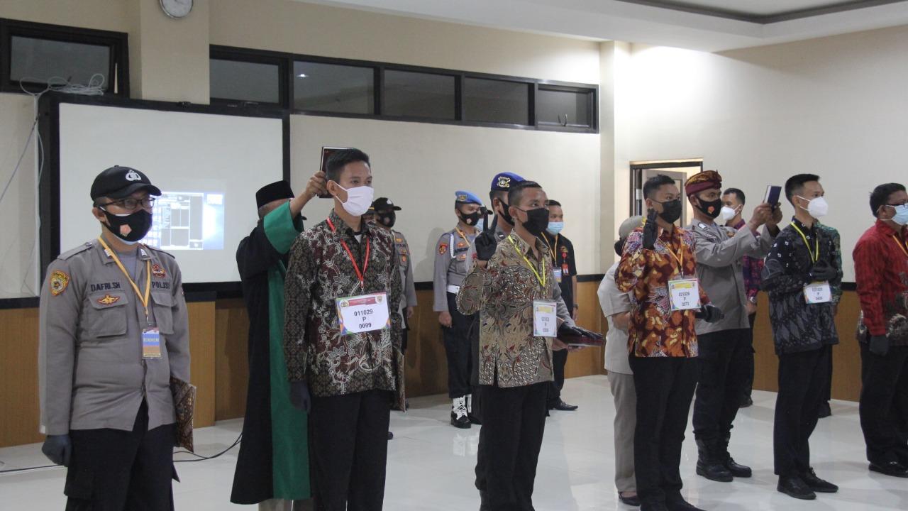 Pastikan Penerimaan Anggota Polri Bersih, Polresta Bandar Lampung Lakukan Pakta Integritas