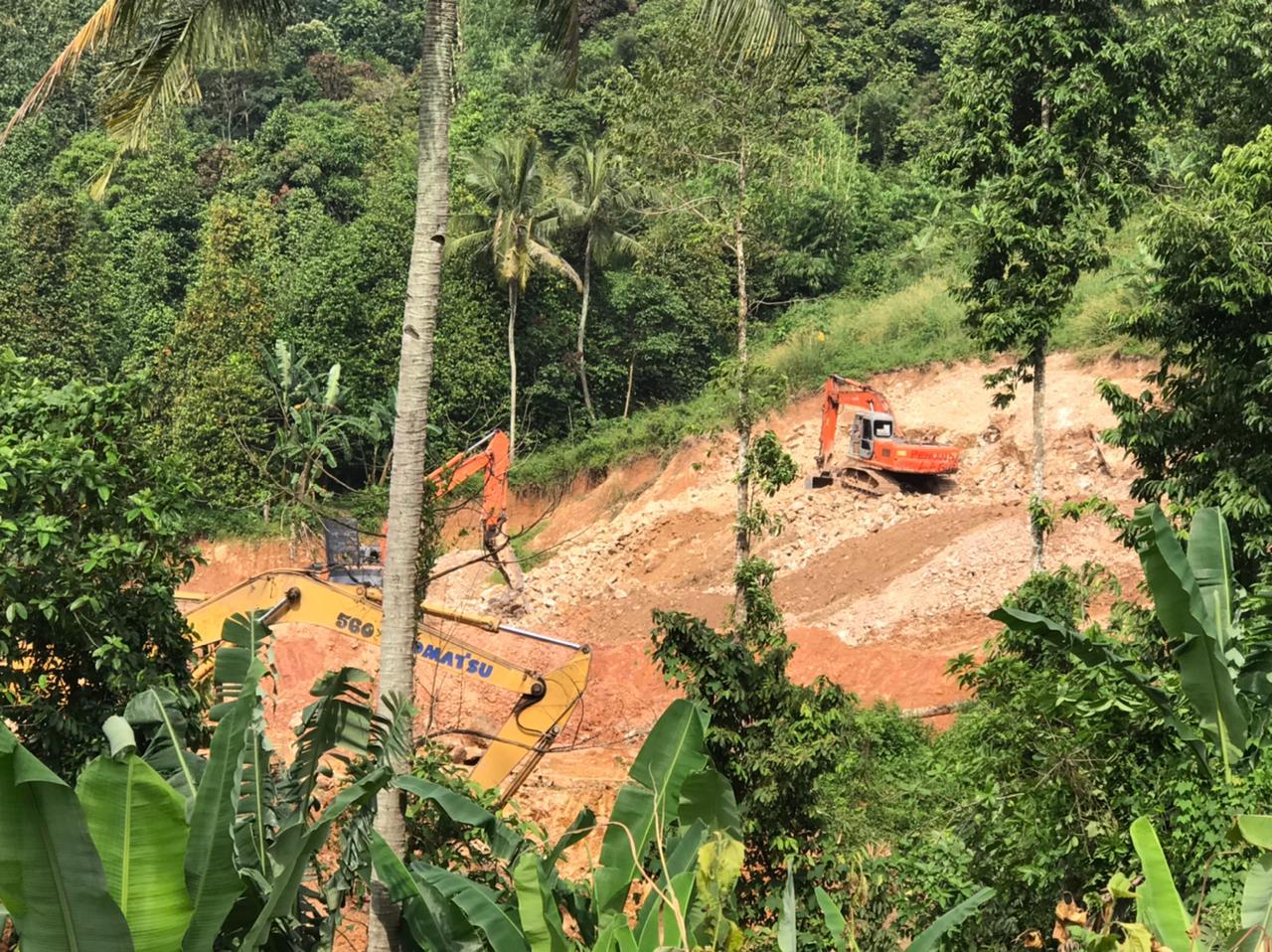 Dipasang Police Line Tambang Ilegal di Campang Raya Nekat Beroperasi