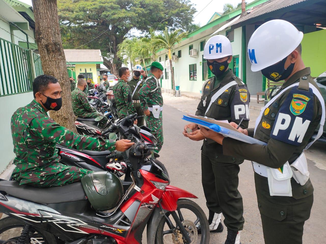 Denpom II/3 Lampung Laksanakan Operasi Gaktib Terhadap Anggota TNI AD