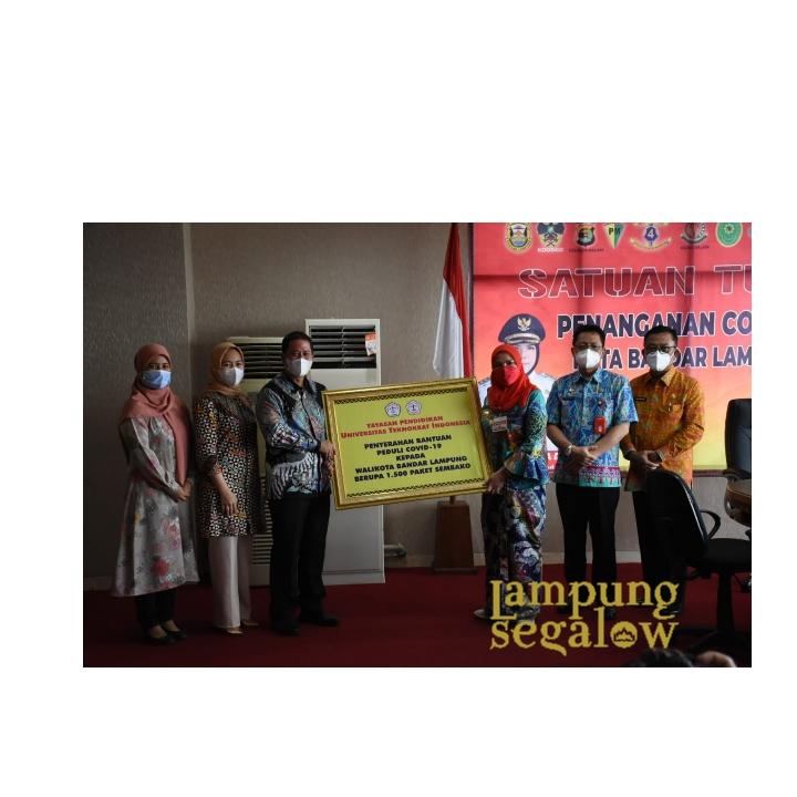 Pemkot Terima Bantuan 1.500 Paket Sembako UTI Lampung