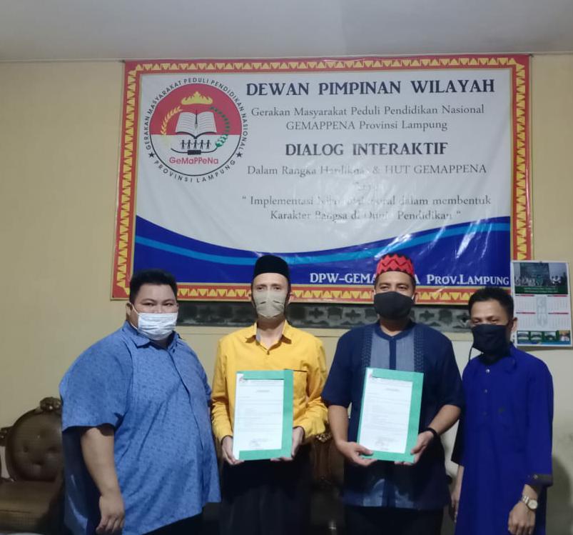 DPW GEMAPPENA Provinsi Lampung, Beri Mandat Kepengurusan DPC Kabupaten/Kota