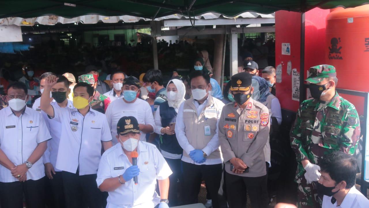 Waka Polda Lampung bersama Gubernur Monitoring Berbagai Titik Simpul Transportasi Moda Angkutan Menjelang Hari Raya Idul Fitri 1442 H