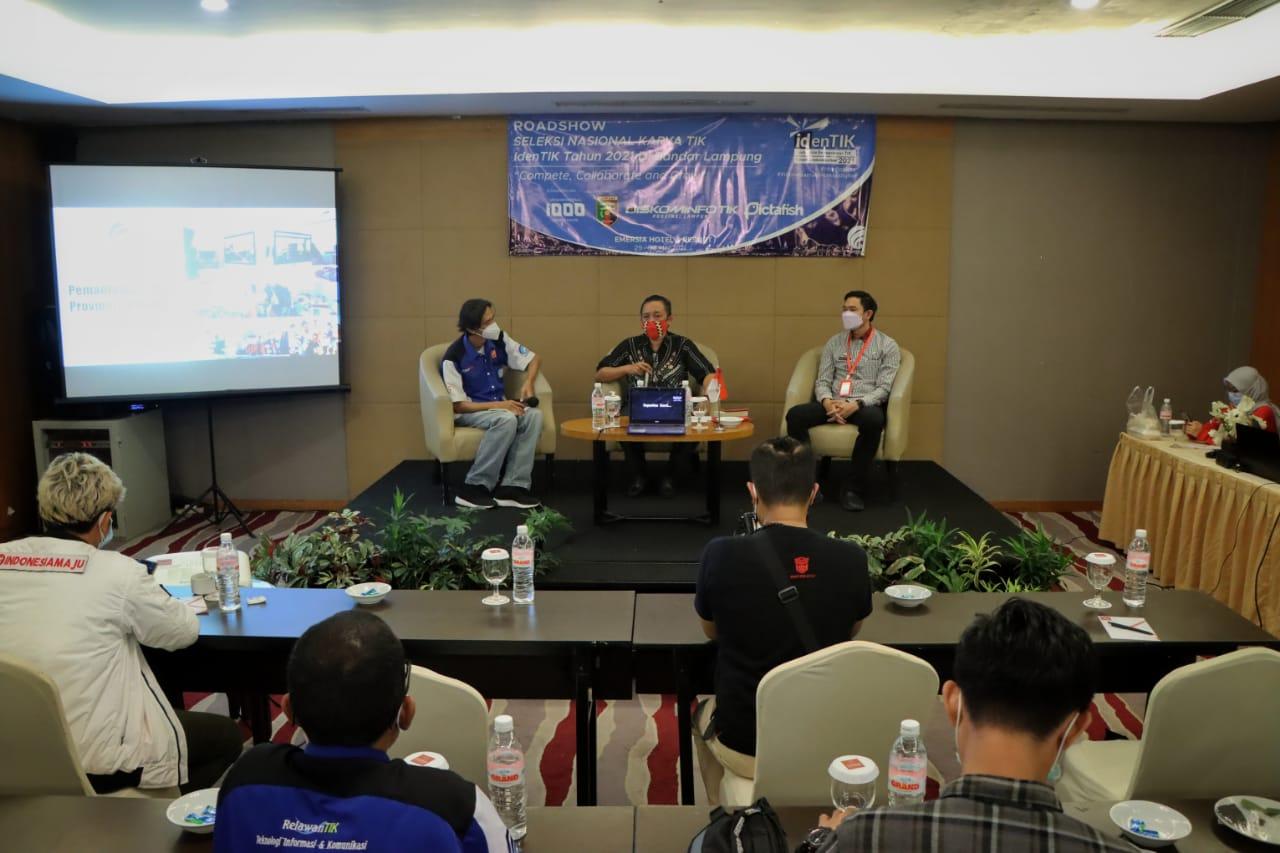 Kadis Kominfotik Provinsi Lampung Menjadi Narasumber Roadshow IdenTIK 2021