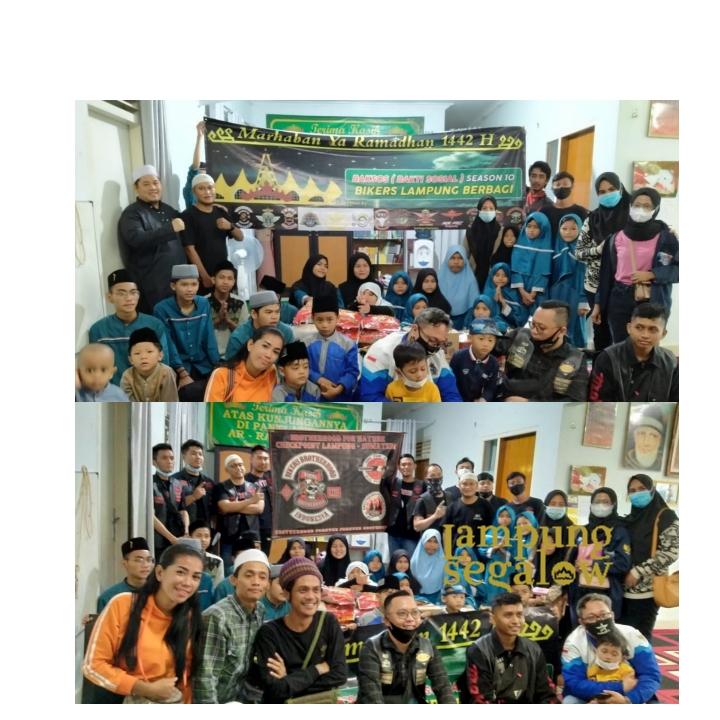 All Bikers Lampung Berbagi dan Tebar Kasih di Panti Asuhan Ar-Ra'uf Syahira
