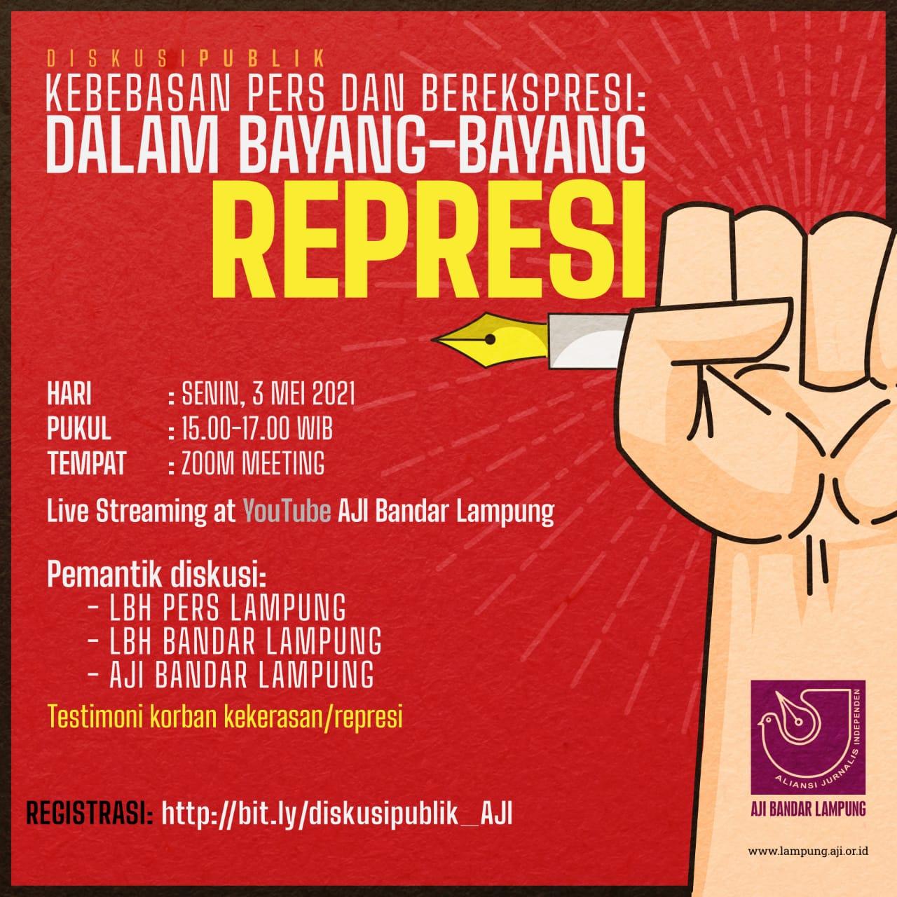 """WPFD, AJI Bandar Lampung Gelar Diskusi """"Dalam Bayang-bayang Represi"""