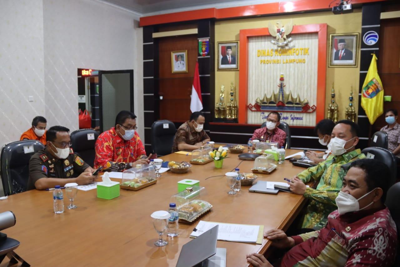 Pemprov Lampung Ikuti Rapat Gabungan XXI Forum Kerjasama Mitra Praja Utama (FKD-MPU) Tahun 2021