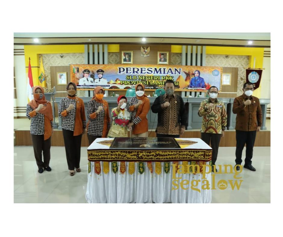 Resmikan SLB Negeri PKK Provinsi Lampung, Gubernur Arinal berikan kontribusi nyata bagi penyelenggaraan pendidikan khusus di Provinsi Lampung