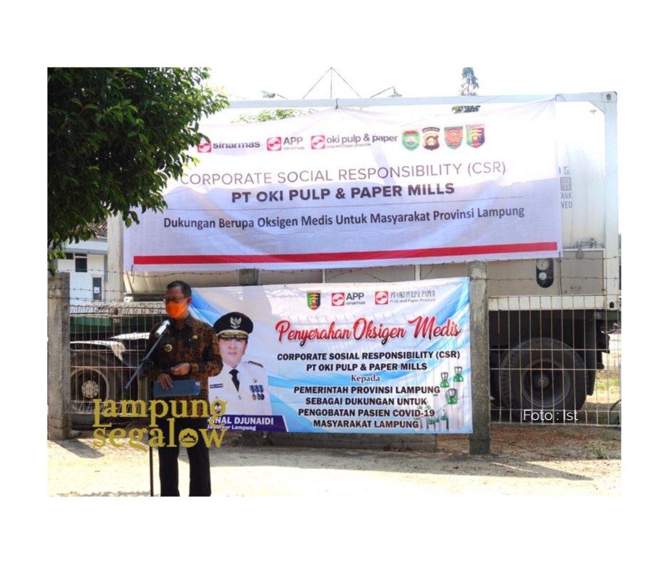 Lampung Terima Bantuan Oksigen Cair Sinar Mas