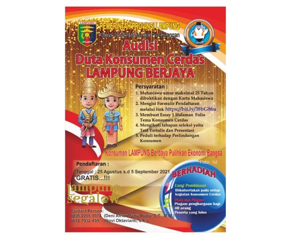Lampung Gelar Audisi Duta Konsumen Cerdas