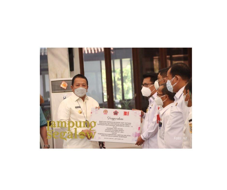 Arinal Terima Bantuan Alat Rapid Test Antigen