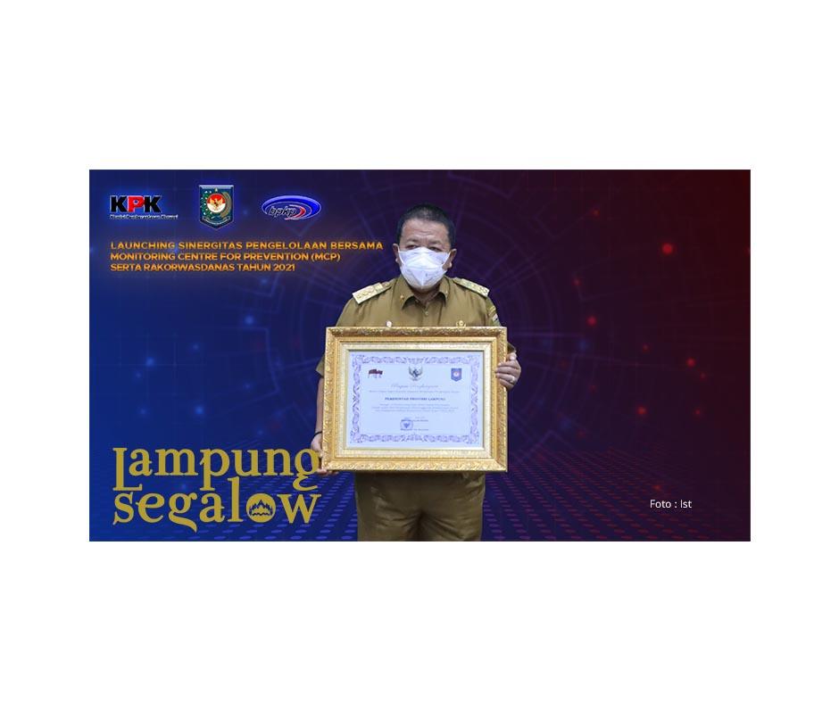 Lampung Terima Penghargaan Atas Penyelesaian TLHP