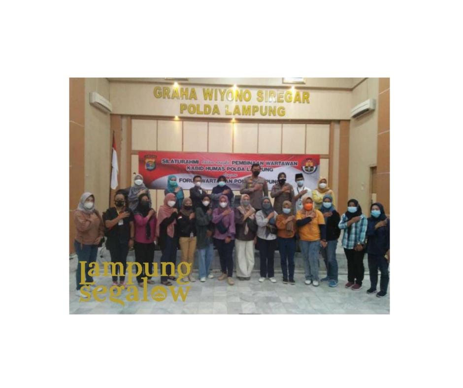 Silaturahmi Humas Polda Lampung ke Wartawan